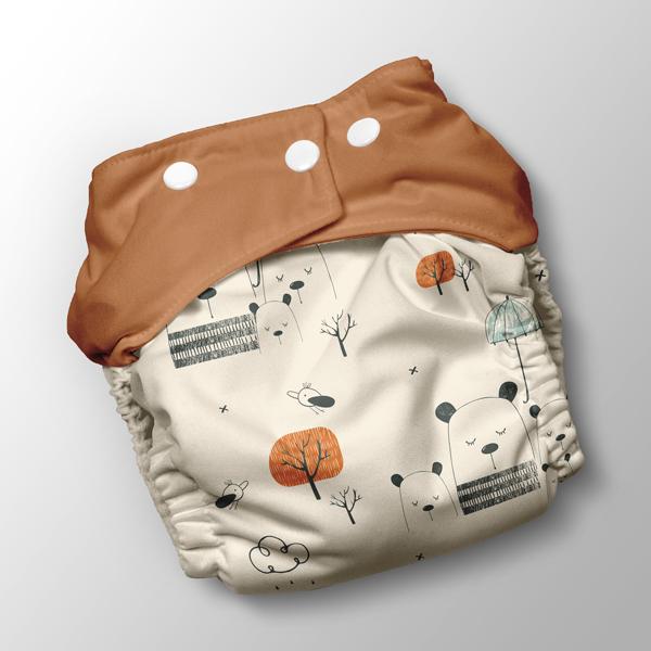 panel-für-pul-Überhose-teddybär-im-regen-auf-beige